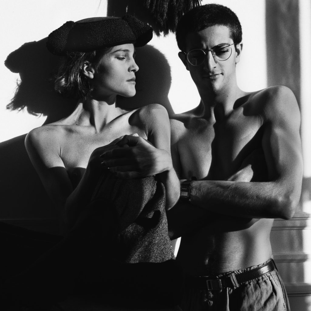 Eugenia Melian & Max Vadukul in the Tony Viramontes studio. Paris 1983. Photographed by Max Vadukul. The Max Vadukul archive.